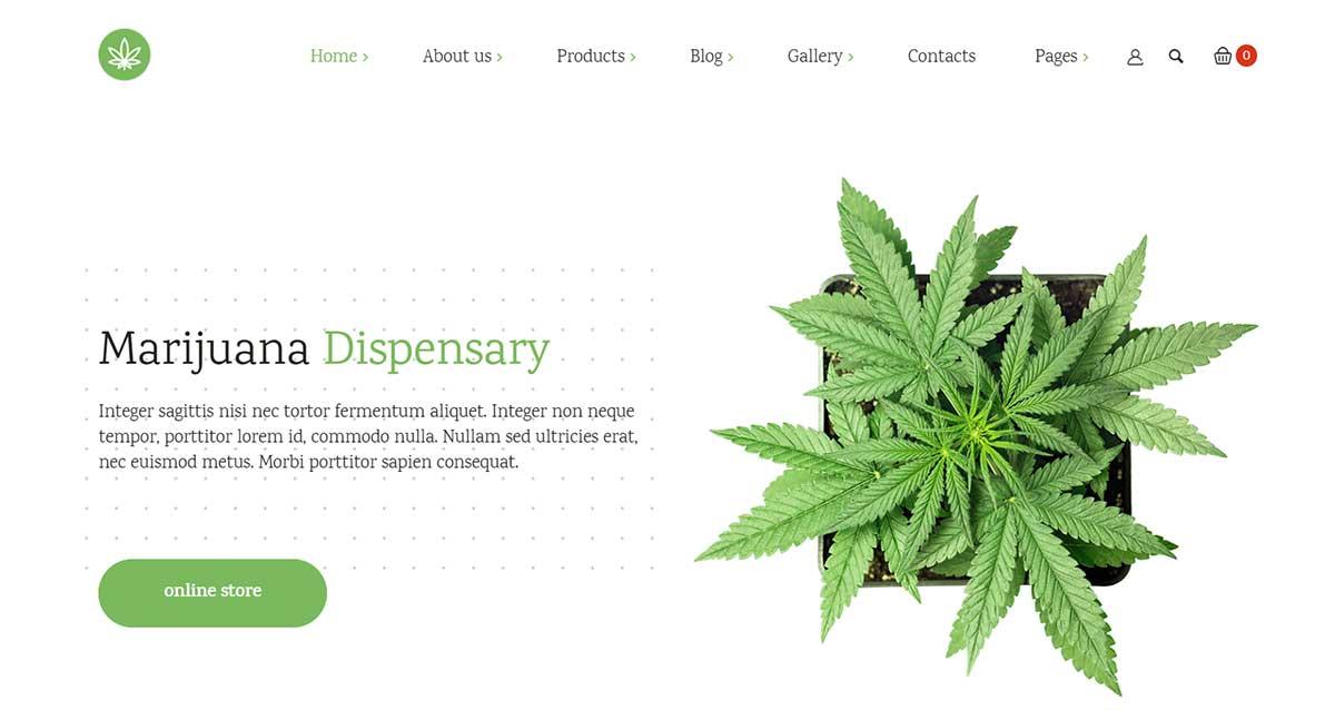 Indicana Medicinal Marijuana WordPress theme