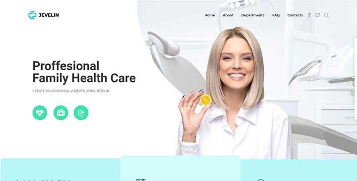 Jevelin Medical WordPress Theme