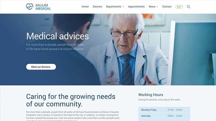 Kalium Medical WordPress Theme