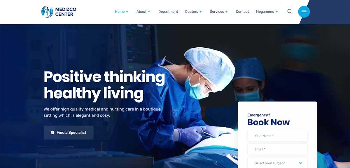 Medizco WordPress Theme for Health Care