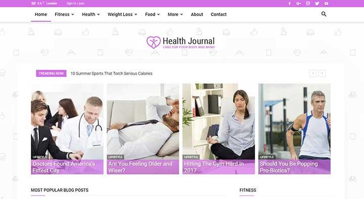 newspaper medical blog theme