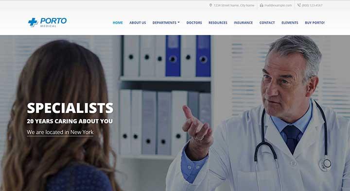 Porto Medical WordPress Theme