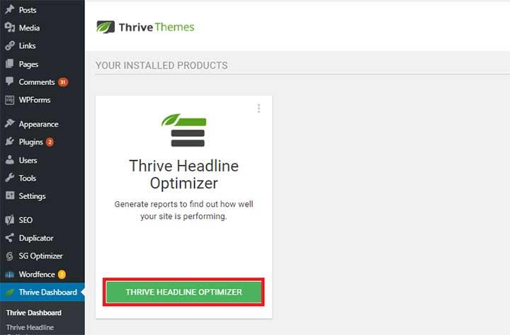Thrive Headline Optimizer Tutorial