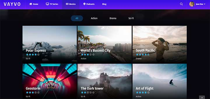 Vayvo Media Streaming & Membership Theme
