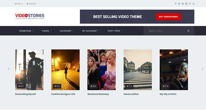 20+ Best WordPress Video Themes for Embedded & Self Hosted