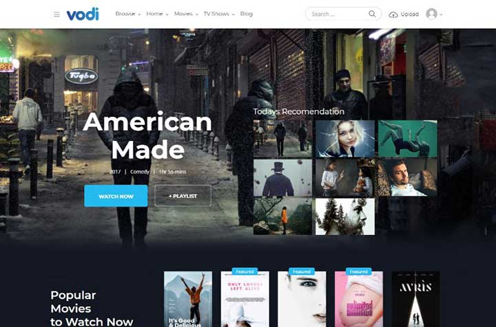 Vodi Video WordPress Theme for Movies & TV Shows