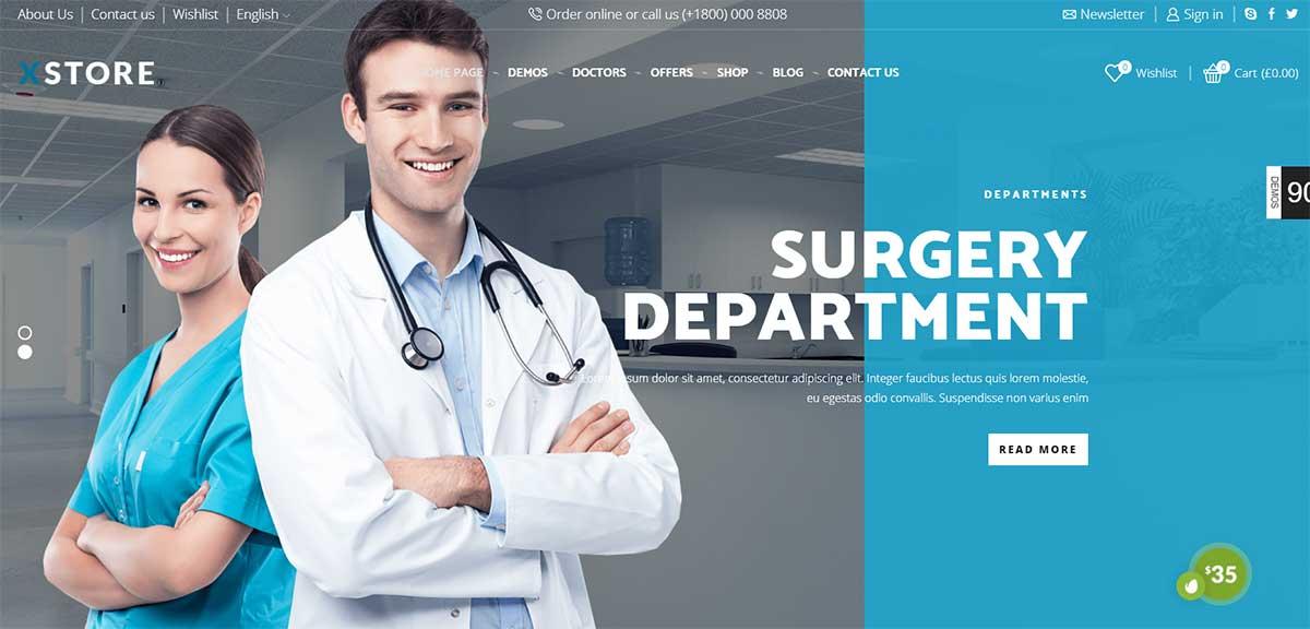 Xstore Medical Shop Theme