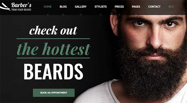 Barber WordPress Theme for Barbers