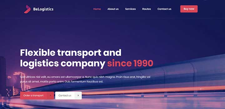 BeTheme Trucking WordPress Theme