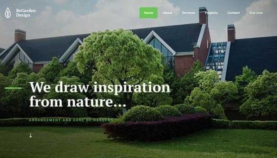 WordPress gardening Theme
