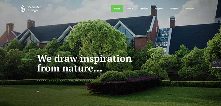 WordPress gardening Theme