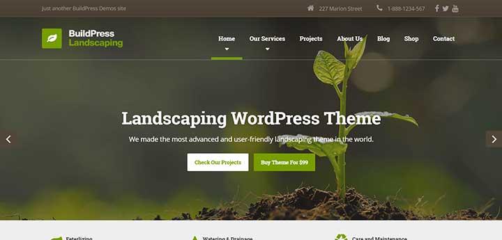 BuildPress Gardening WordPress Theme