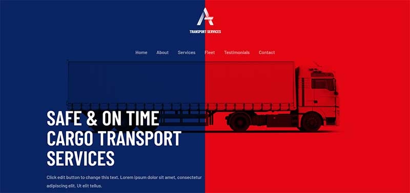 Astra Theme for Cargo Websites