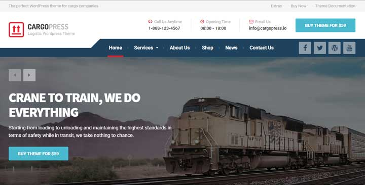 CargoPress WordPress logistic theme