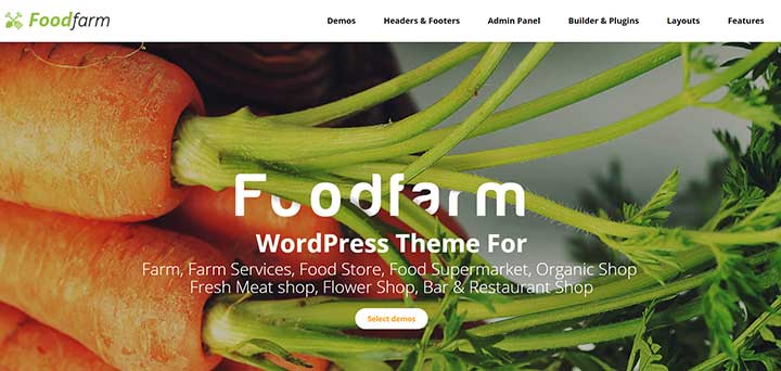 FoodFarm WordPress Gardening Theme