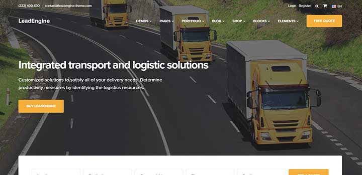 LeadEngine Cargo WordPress Themes