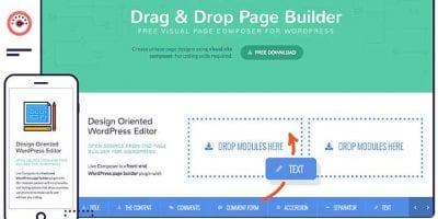 WordPress drag and drop website builder
