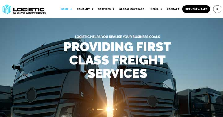 15 Best Logistic WordPress Themes for Transportation and