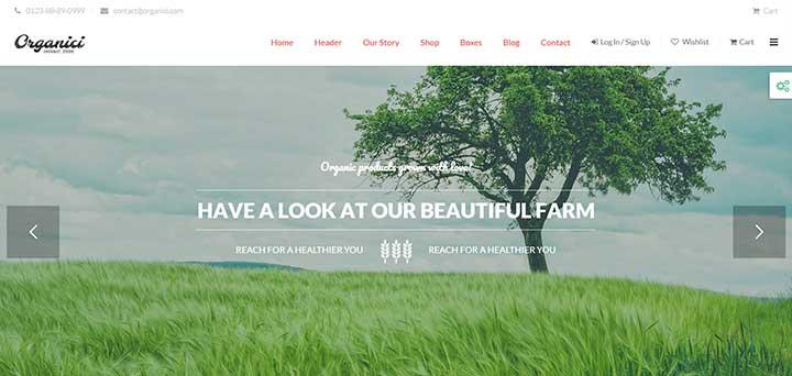 Organici Gardening WordPress Theme