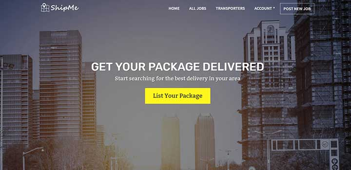 ShipMe logistic WordPress themes
