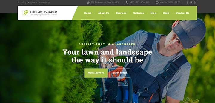 The Landscaper Gardening WordPress Theme