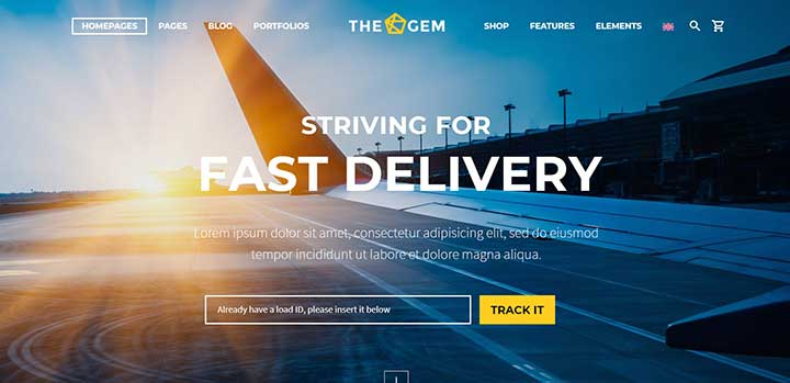 TheGem Logistics WordPress Themes