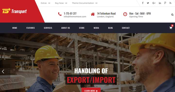 Transport Logistic and Warehouse WordPress Theme