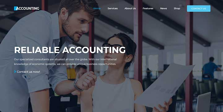 Accounting-Business WordPress Theme