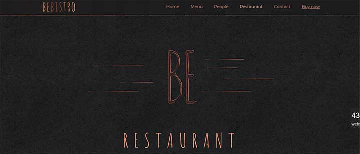 BeTheme for restaurants