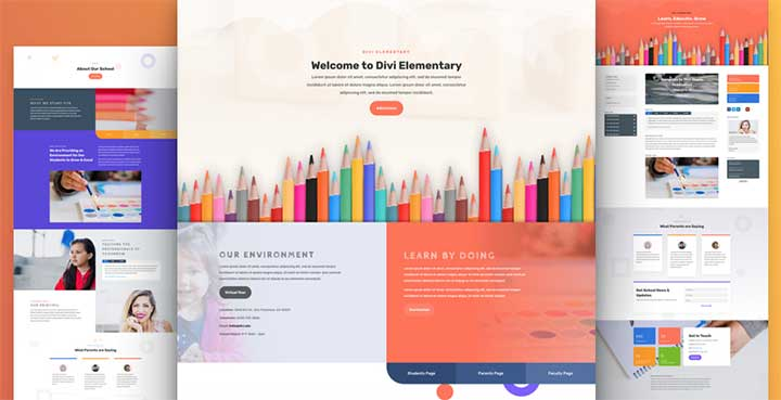 Divi Education Website Templates