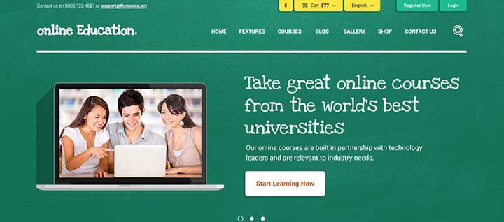 Education Center WP Template