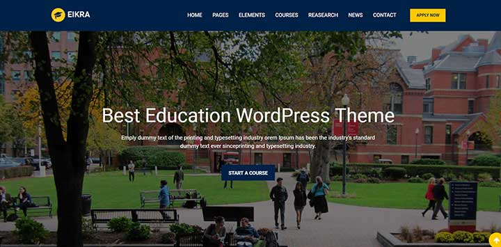 Eikra WordPress Education Theme