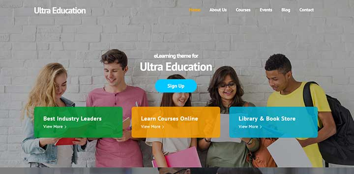 Ultra WordPress Educational Themes