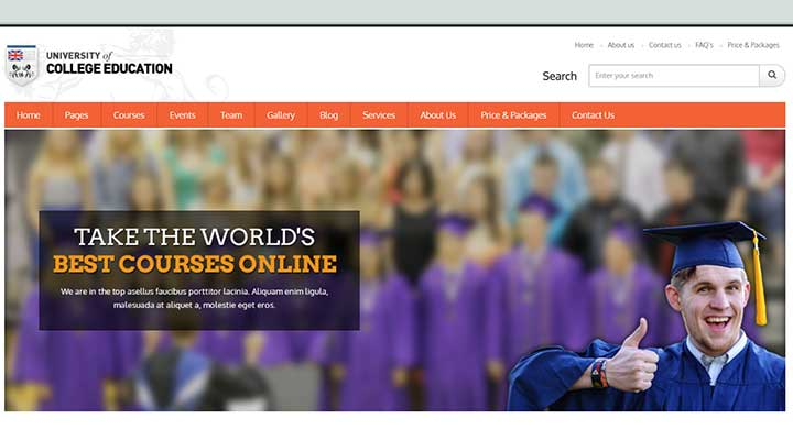 University Education, Event and Course Theme
