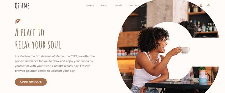 Oshine restaurant WordPress Theme