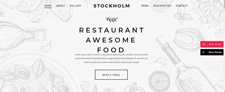 Stockholm theme for restaurant