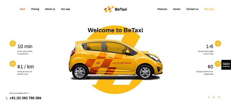 BeTheme Taxi Booking Theme
