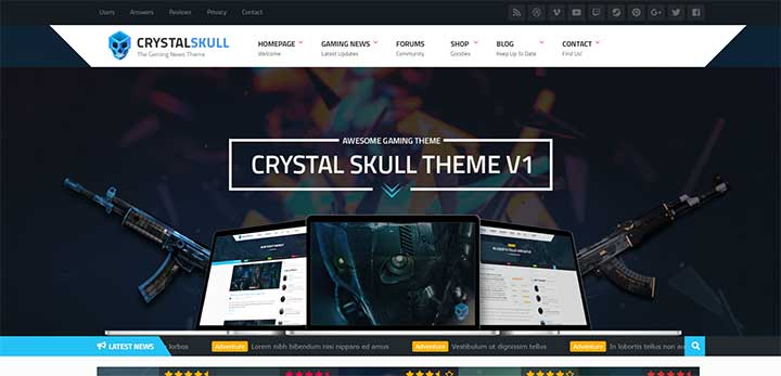 CrystalSkull Gaming Theme