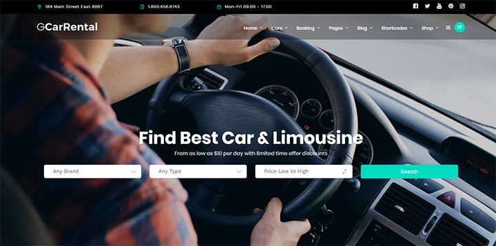 Grand Car Rental WordPress Theme