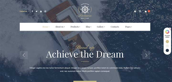 Rental Boat Service WordPress Theme