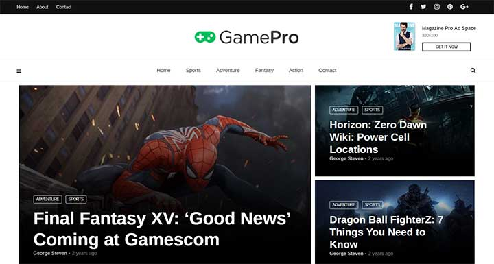 MagPlus Gaming Theme for WordPress