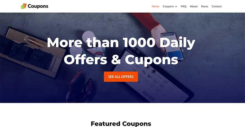 coupons wordpress site