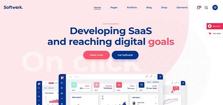 Softwerk - Software & SaaS Startup Theme