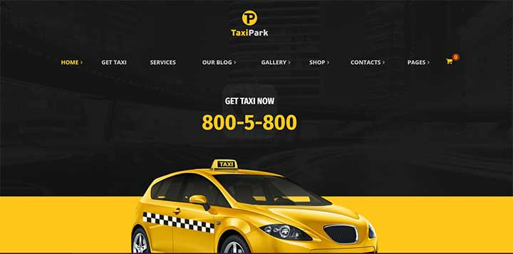 Taxi Cab Service Company WordPress Theme