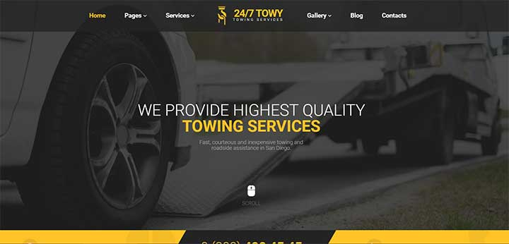 Emergency Auto Towing WordPress Theme