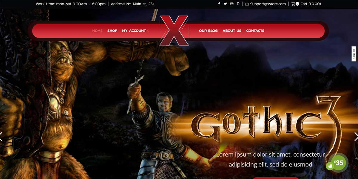 XStore WordPress Game Store