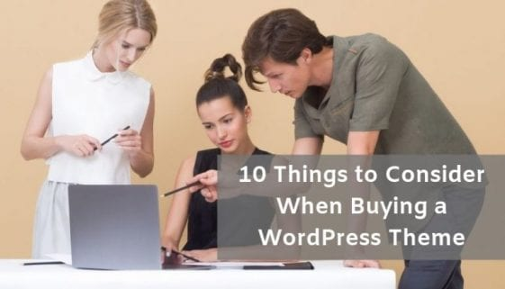 things to consider when buying a wordpress theme