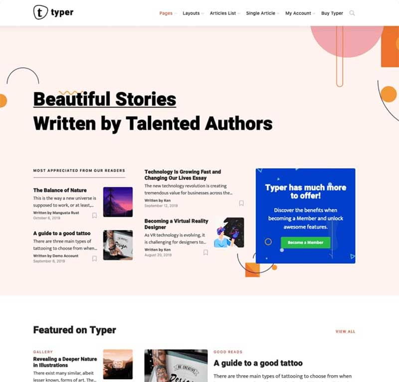 Typer WordPress Theme