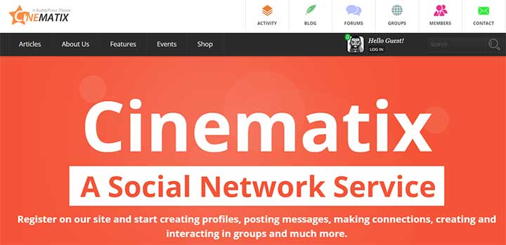 Cinematix WordPress Dating Themes
