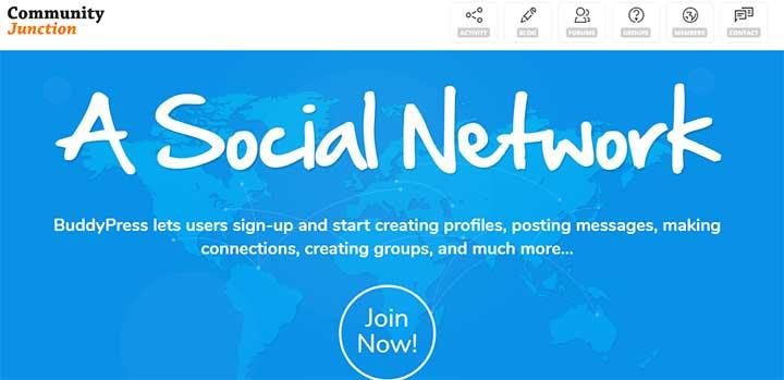 CommunityJunction BuddyPress Membership Theme